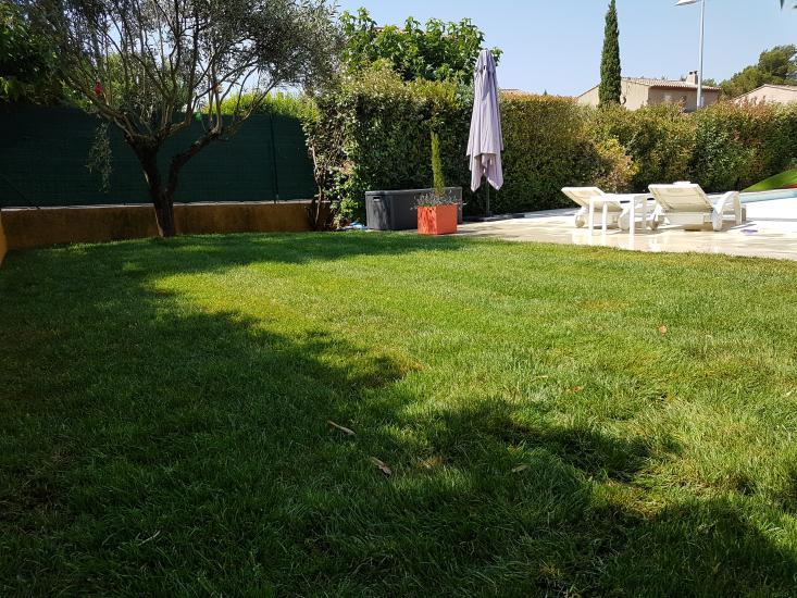 pose pelouse en plaque Rousset